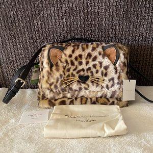 NWT Kate Spade Run Wild Leopard Muff Shoulder Bag